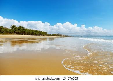 beach landscape China Hainan Sanya