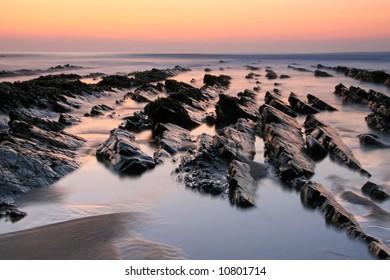 Beach landscape long exposure