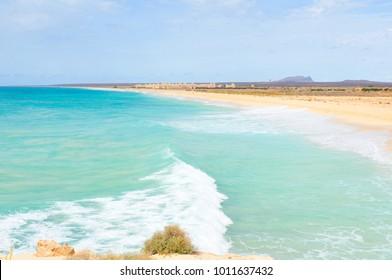 Paysage sur l'île de Boa Vista, Cap Vert, Afrique