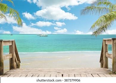 Beach landscape view
