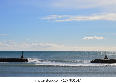 Beach landscapes of Sitges