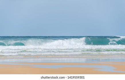 The beach of Le Porge, near Lacanau, on the French Atlantic coast