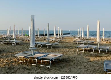 Beach of Lido di Jesolo summer day