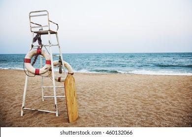 Beach Lifeguard Security Coastline Safety Concept