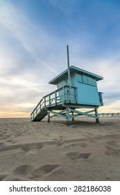 Beach Lifeguard Tower in Hermosa Beach California