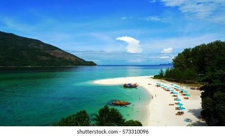 The beach at lipe island Thailand