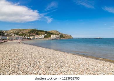 Beach in llandudno in Wales in a beautiful summer day, United Kingdom