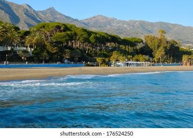 Beach located in Marbella (Spain) next to Banus beach.