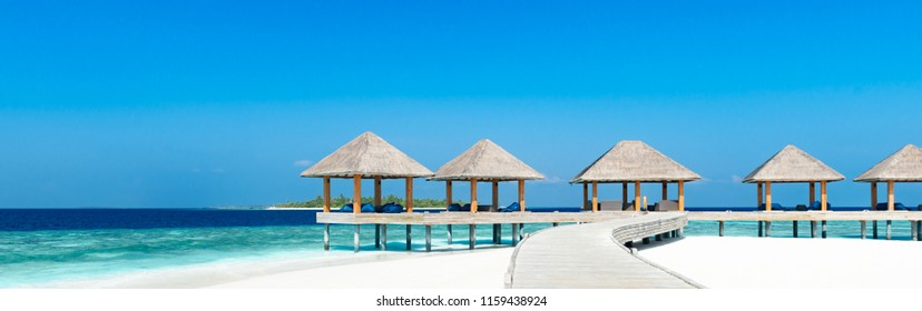 Beach Lounge with seaview on the Maldives