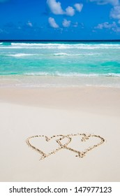 beach and love in sand
