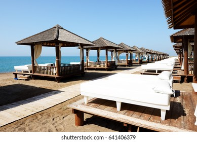 The beach at luxury hotel, Antalya, Turkey