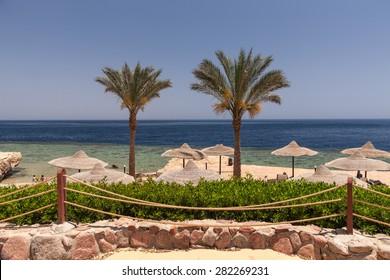 The beach at the luxury hotel, Sharm el Sheikh, Egypt