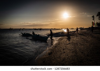 Beach of Malapascua in Philipines