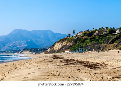 Beach in Malibu, California coastline, USA