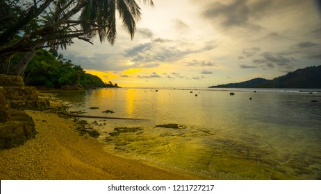the beach of mandeh in pesisir selatan regency, sumatera barat.