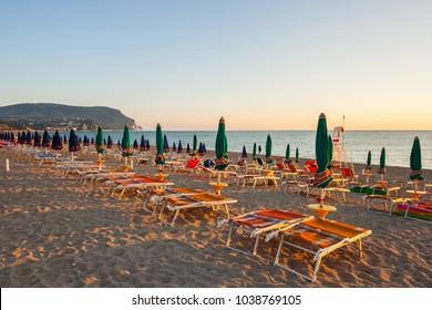 Beach of Marcelli di Numana, Ancona, Marche, Adriatic Sea, Italy