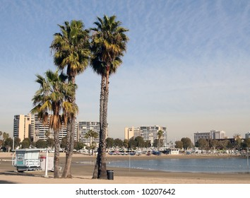 The Beach in Marina del Rey. Marina Del Rey in Los Angeles.