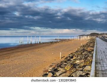 Beach marina in Hjerting wadden sea Esbjerg, Denmark