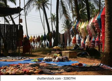 beach market (goa , india)