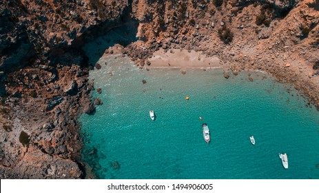 Beach of Menorca between Son Parc and Arenal den Castell secret place