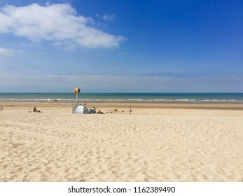 Beach in Middelkerke, Belgian coast