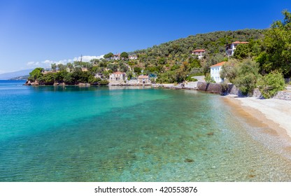 Beach in Milina village, Pelio, Greece