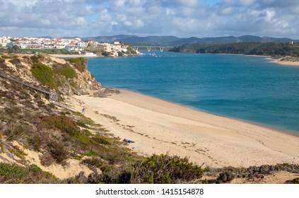 Beach at Mira River, Vila Nova de MilfontesPortugal
