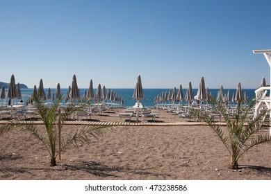 The beach Montenegro
