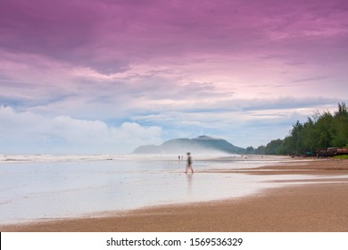 Beach and morning mist at thailand