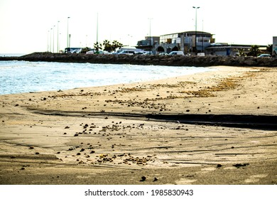 Beach in the morning in Santa Pola, a small fishing village in southern Spain - Shutterstock ID 1985830943