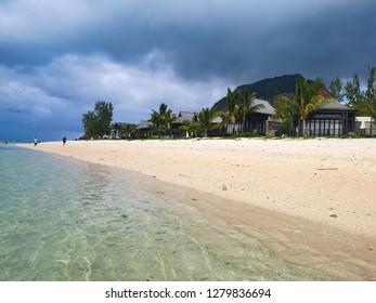 beach and mountain