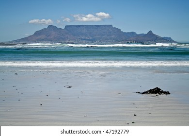 Beach with mountain the background
