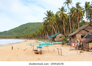 Beach of Nacpan in Palawan, Philippines