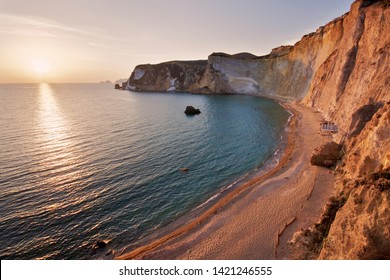 Beach named Chiaia di Luna at west od island of Ponza in the central Italy.