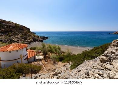 Beach near Agios Ioannis in Southern Crete, Greece
