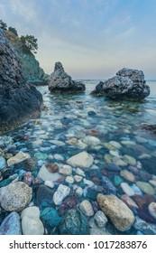 Beach near Aphrodite bath in Polis, Cyprus