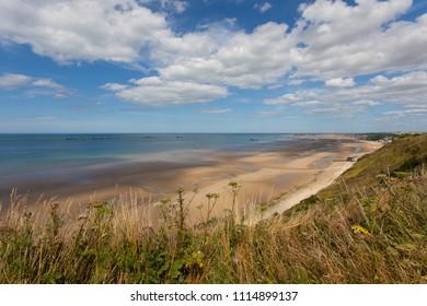 Beach near  Arromanches in Normandie France