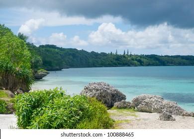 Beach near Noumea in New Caledonia archipelago