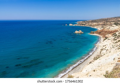 Beach near Salamis - Cyprus, in a sunny day of summer