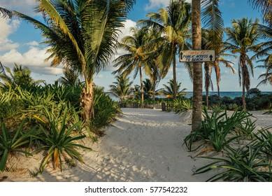 A beach near the  Tulum ruins, Riviera Maya, Mexico