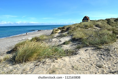 The beach next to Old Skagen in the northern part of Denmark
