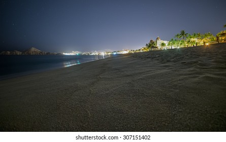 Beach at night in Cabo San Lucas