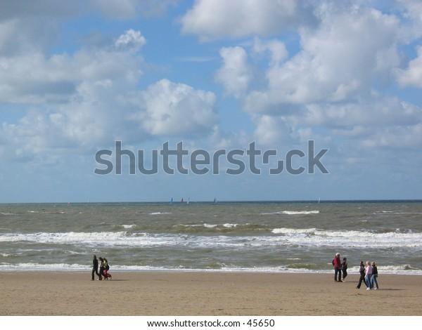 Beach at Noordwijk, The Netherlands