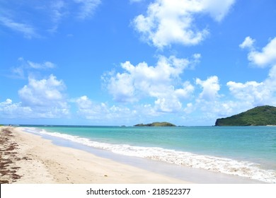 beach at North east coast of St Lucia - comerette estate