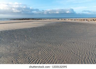 Beach at the North Sea near Blavand, Denmark