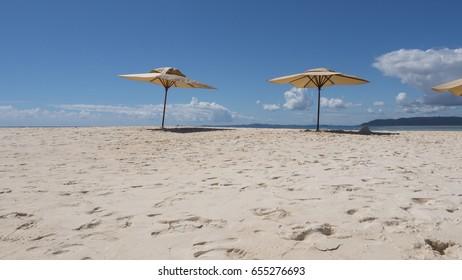 Beach in Nosy Iranja, Island Madagascar