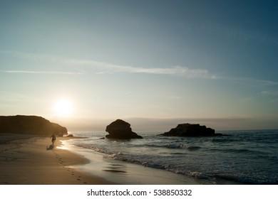 beach in noth coast of Galicia
