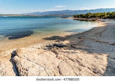 Beach in Novigrad Dalmatia, Croatia