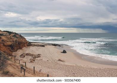 Beach number sixteen, Rye, Mornington Peninsula, Victoria, Australia