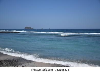 Beach and ocean in Candidasa, Bali - Indonesia